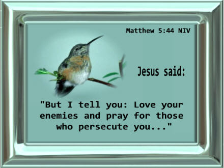 bible quotes about loving your enemies images